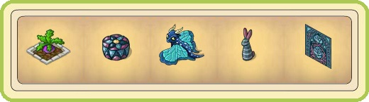 Name:  Bed with turnip, Blue brocade cushion, Blue dragon fly, Blue stuffed bunny, Blue tapestry with r.jpg Views: 908 Size:  25.0 KB