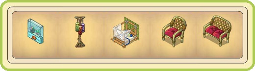 Name:  Aqueous ornament, Atmospheric lantern, Bamboo bed, Bamboo chair (1 seat), Bamboo couch (2 seats).jpg Views: 171 Size:  25.8 KB