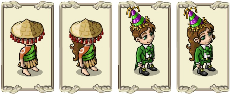 Name:  Far East hat (male) and (female), New Year's hat (male) and (female).jpg