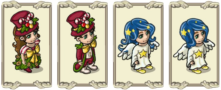 Name:  A magnificent Christmas look (female) and (male), Angelic robe (female) and (male).jpg Views: 1321 Size:  97.5 KB