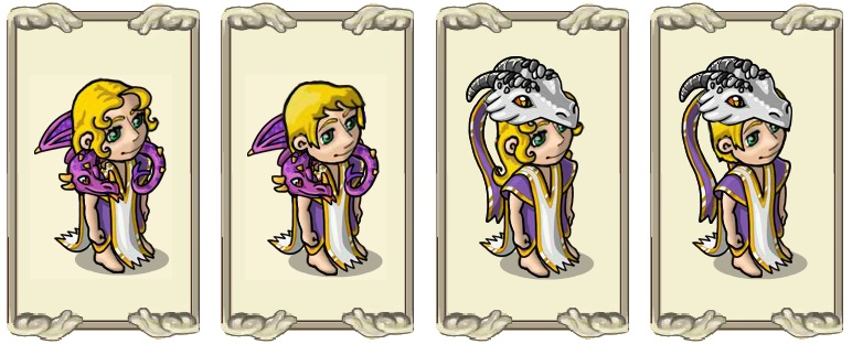 Name:  Scarf of the dragon guardian (female) and (male), Two-coloured dragon hood (female) and (male).jpg