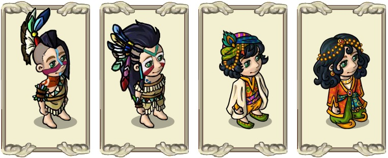Name:  Hair Styles, Ceremonial hair style (male) and (female), Far Eastern hair decoration (male) and (.jpg