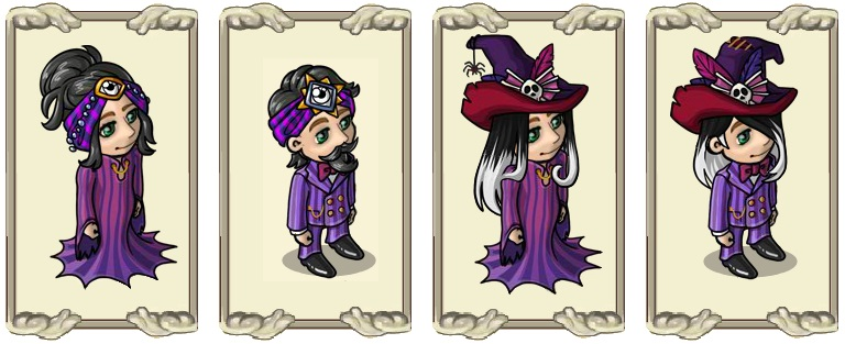 Name:  Monochrome seer's eye (female) and (male), Monochrome witch's hair (female) and (male).jpg