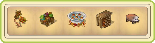 Name:  Unusual owl, Vegetable cart, Water tub with apples, Well-stocked wood store, Wild boar.jpg