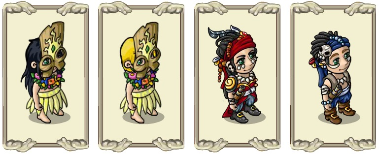 Name:  Light clothing (female) and (male), Pirate costume  (female) and (male).jpg