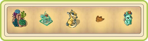 Name:  Low-maintenance dragon herbs, Malachite (2 seats), Meddlesome baby dragon, Mina's footprints, .jpg