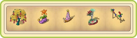 Name:  Confetti tree, Curious flower pot, Donna, the Party Snail, Feather fountains, Festive Garland.jpg