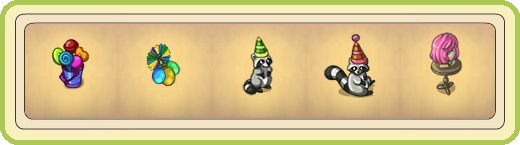 Name:  Lolly stash, Paper lantern with balloons (wall), Party raccoon (green), Party raccoon (red), Pin.jpg