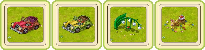 Name:  A magical classic car (red) and (yellow), Bellflower swing, Busy Easter Bunny.jpg Views: 644 Size:  54.8 KB
