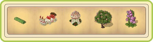 Name:  Narrow hedge section, Ornate wedding carriage (3 seats), Pavilion of love, Peach tree, Pink bell.jpg Views: 20 Size:  25.1 KB