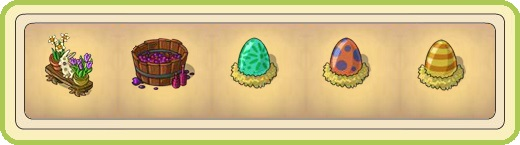 Name:  Full flower bench, Gentle grape dance (1 seat), Giant floral egg (1 seat), Giant spotted egg (1 .jpg Views: 673 Size:  25.9 KB