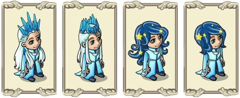 Name:  Shimmering crystal crown (female) and (male), Smooth starry hair (female) and (male).jpg