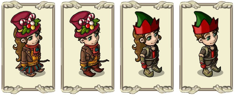 Name:  Christmas top hat (female) and (male), Elvish Felt Hat (female) and (male).jpg