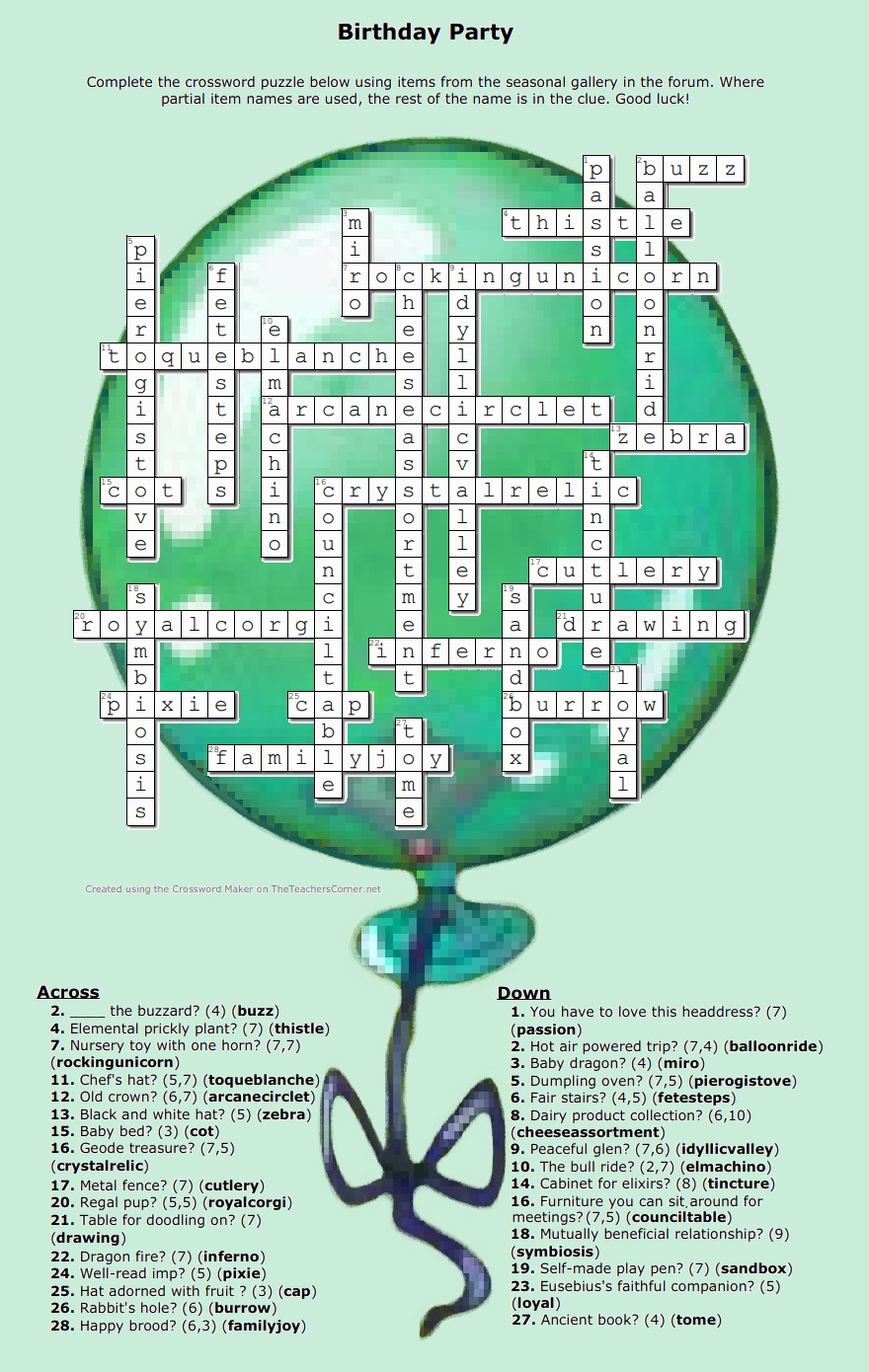 Name:  Birthday Party crossword 2021 answer.jpg Views: 34 Size:  392.1 KB