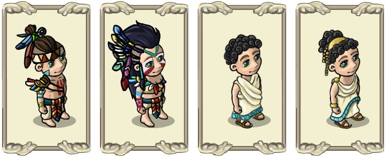 Name:  Robes, Feathery steppe costume (male) and (female), Light, precious thread (male) and (female).jpg Views: 1301 Size:  85.9 KB