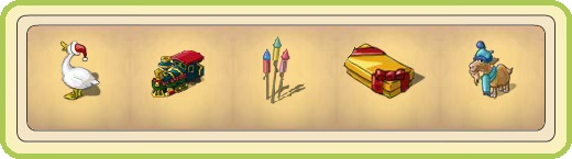 Name:  Festive Goose, Festive steam engine, Firework rockets, Flat yellow Gift, Freezing goat.jpg