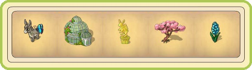 Name:  Gentle donkey, Glasshouse with domed roof, Golden Easter bunny, Grand cherry tree, Grape-shaped .jpg Views: 857 Size:  24.3 KB